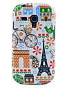Eiffel tower & House Pattern Glossy TPU Imd Case for Samsung Galaxy S3 Mini I8190