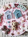 Симпатичные игрушки собаки Силиконовые Mold Фондант Пресс-формы Сахар Craft Инструменты Chocolate Форма для тортов
