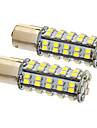 Ba15s/1156 6W 68x3020SMD 470LM 5500-6500K Cool White Light LED Bulb for Car (12V,2pcs)