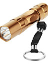 3W POLICE LED Handy Camping torche trousseau de lumiere (1xAA, or)