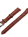 Women\'s 14mm Craquelure Grain Leather Watch Band (Brown)