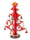 나무 레드 3D 크리스마스 트리 산타 클로스 벨 서 탁상용 장식 팩