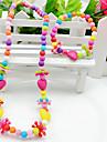 Smycken 1 Halsband 1 Armband Party Akrylfiber 1set Flickor Enligt bilden Bröllopsgåvor