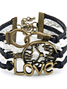 LOVE Lock Clocks and Watches Wrap Bracelet