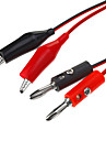 Banana Plug to Alligator Clip Probe Cable Test Lead Red&Black (1M/ 5pcs)