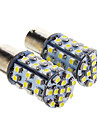 1156  BA15S 0.72W 24x3528SMD 50LM 6000K Cool White Light LED Bulb for Car (12V,2 pcs)