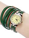 Kvinder Vintage Runde Dial Pu Band Quartz Analog Bracet Watch (assorterede farver)