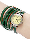 Women\'s Vintage Round Dial Pu Band Quartz Analog Bracet Watch (Assorted Colors)