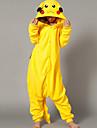Kigurumi Pajamas Pika Pika Leotard/Onesie Halloween Animal Sleepwear Yellow Patchwork Polar Fleece Kigurumi UnisexHalloween / Christmas /