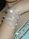Korean Simple Row Crystals Elastic Bracelet