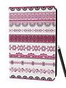 Classic Heimo Tribal Kangas Pattern PU Full Body Case telineellä ja Stylus Touch Pen iPad 2/3/4