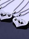 Золотистый / Серебро / Синий / Черный - Нержавеющая сталь - унисекс - Персональный подарок - Ожерелья -