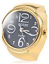 Frauen schwarze Zifferblatt Gold-Legierungs-Quarz-Ring-Uhr