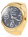 Women's Black Dial Gold Alloy Quartz Ring Watch Cool Watches Unique Watches