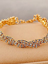 Homme Bracelets de tennis Cristal Strass Plaque or Original Mode Bijoux Dore Bijoux 1pc