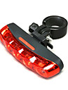 Eclairage arriere,Bicyclette rouge MOON 5 LED lumiere de queue pour securite