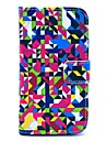 Diamond Puzzle Pattern PU Leather Case Cover with Stand and Card Slot for Motorola MOTO X