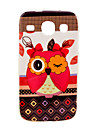 Colorful Female Owl Cartoon Pattern Soft Case for Samsung Galaxy Core I8262
