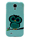 Lovely Cartoon Owl TPU Soft Case for Samsung Galaxy S4 I9500