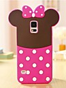Lovely Pink Bowknot 3D Silicon Phone Case for Samsung Galaxy S5 i9600
