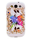Shining Butterfly Pattern TPU Soft Case Cover for Galaxy S3 I9300
