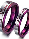 Ring Party / Daily / Casual Jewelry Titanium Steel Women Couple Rings / Midi Rings5 / 6 / 7 / 8 / 9 / 10 / 11 / 12 Purple