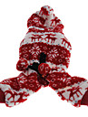 Warm Snowflakes Pattern Fleece Jumpsuits with Hoodie for Pets Dogs (Assorted Colors, Sizes)