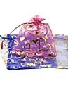 Bag (color al azar) gasa Amor caliente de oro del hilado Bolsa Accesorios de bolsillo bolso de la joyeria del haz (1PC)