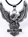 Fashion Eagle  Black Alloy Pendant Necklace(Silver) (1 Pc) Christmas Gifts