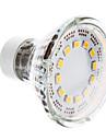 1W GU10 Lampadas de Foco de LED 12 SMD 2835 120-140 lm Branco Quente AC 220-240 V
