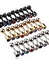 Lureme®316L Surgical Titanium Steel Crystal Single Stud Earrings  (Random Color)