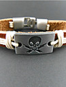 Fashion Rectangle Skull 20cm Men\'s Multicolor Leather Wrap Bracelet(1 Pc)