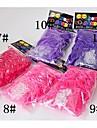 baoguang®300pcs цвета радуги ткацкий станок яркий цвет моды ткацкий станок резинку (12pcs крюк, разные цвета)