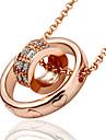 Ожерелье Ожерелья с подвесками Бижутерия Свадьба / Для вечеринок / Повседневные МодаСплав / Стразы / Позолота / Позолоченное розовым