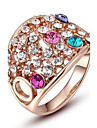 Gorgeous Fashion Jewelry Gold plated  with Rhinestone Rings (one piece)