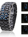 Men\'s Watch Faceless Watch Blue LED Lava Style Digital Plastic Band  Wrist Watch Cool Watch Unique Watch Fashion Watch