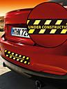 건설 경고 패턴 장식적인 차 스티커에서