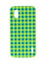 Kinston Blue and Yellow Diamond Pattern Plastic Hard Case for Google LG Nexus 4