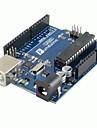 1pcs (para arduino) placa de desenvolvimento uno r3 mais recente versão nova e cabo usb 2012 (50 cm)