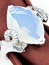 Classic Moonstone Wine Quartz Gemstone Silver Ring 1PC