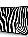 Elonno Fashion Zebra Neopreen Laptop Sleeve Case tas Pouch Cover voor 13\'\' MacBook Pro / Air Dell HP Acer