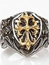 Массивные кольца Титановая сталь Крестообразной формы Мода Серебряный Бижутерия Повседневные