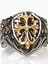 Z&X®  Men\'s Fashion Crow Heart Cross Titanium Steel Ring