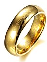 Mens Stainless Steel Ring Titanium Gilded Golden Plated Rings