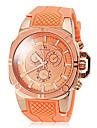 Or elegant caisse de bande de montre bracelet a quartz en silicone de la femme (couleurs assorties)