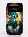 Mise en veille automatique / réveil de dessin animé Tortue Lucarne Design Full Body en cuir pour Samsung Galaxy i9500 S4