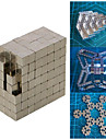 5mm 216pcs Magnetic Cube med Gift Box (Silver)
