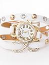 смею U PU женщин аналоговый кварцевый diamonded браслет часы