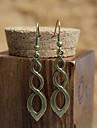 Vintage (círculo) Bronze Copper brincos (Bronze) (1 par)