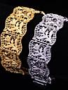 U7® Hot Sale Vintage 18K Chunky Gold Plated Bracelets For Women Men Fashion Bangle 20CM 20MM